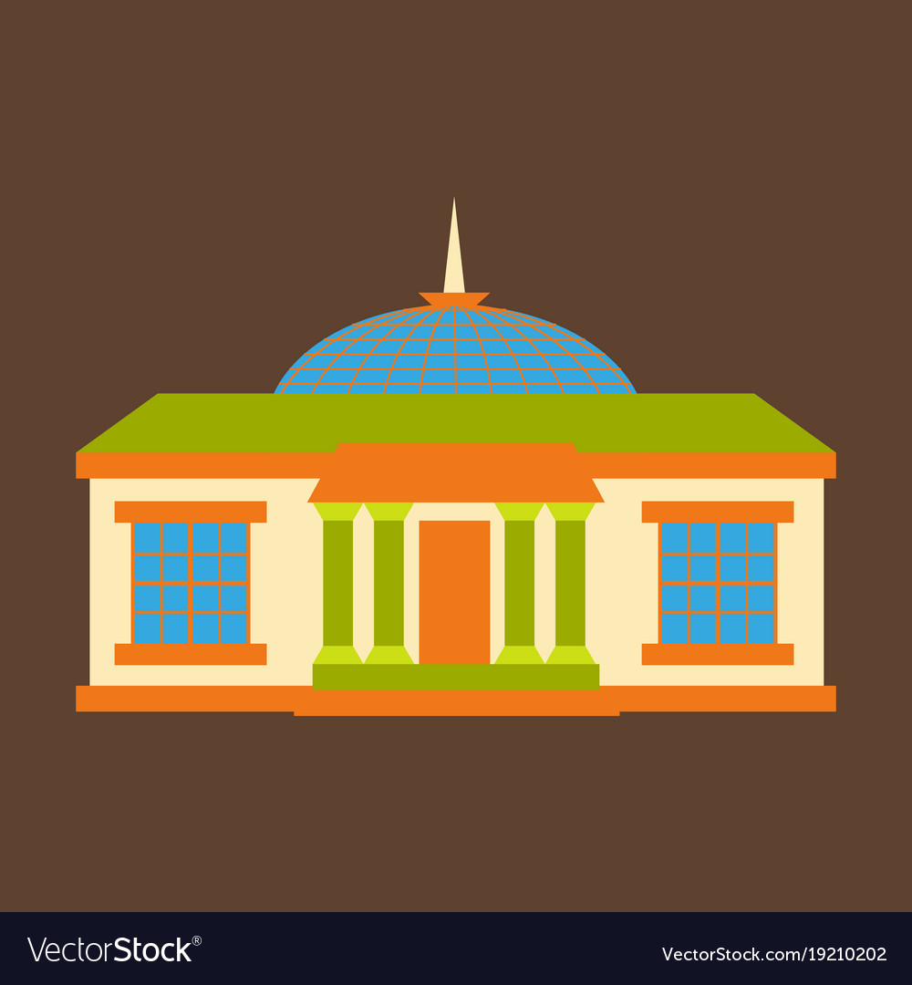 Silhouette of the government building on