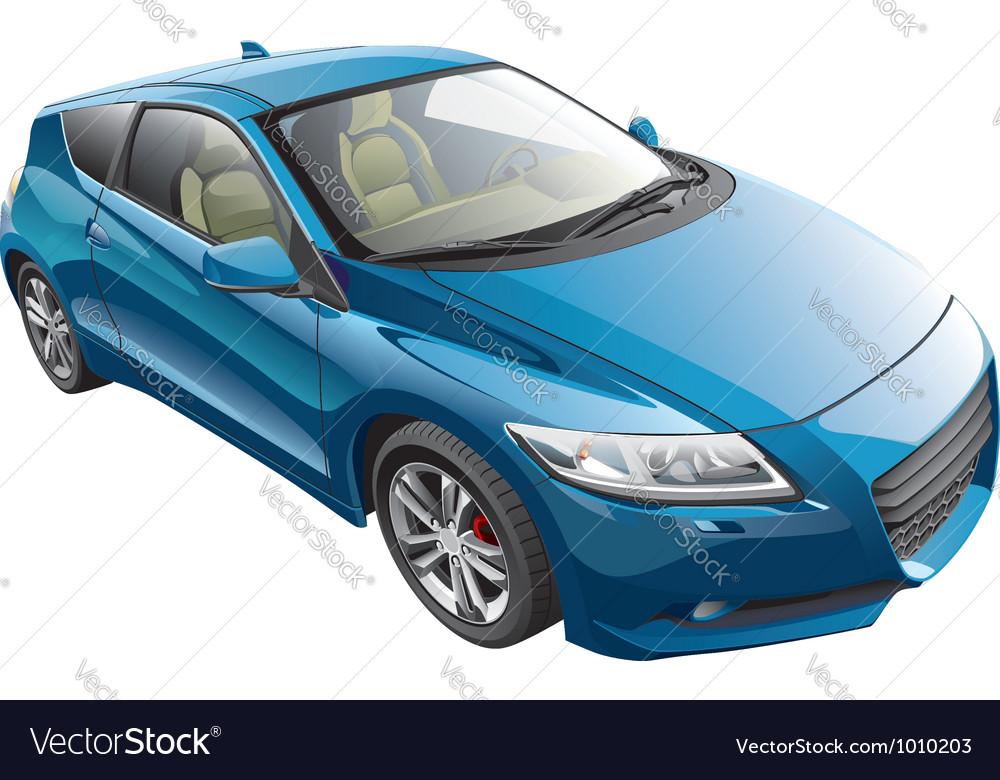 Blue sport car vector image