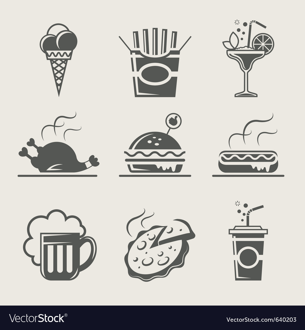 Fast food and drink vector image