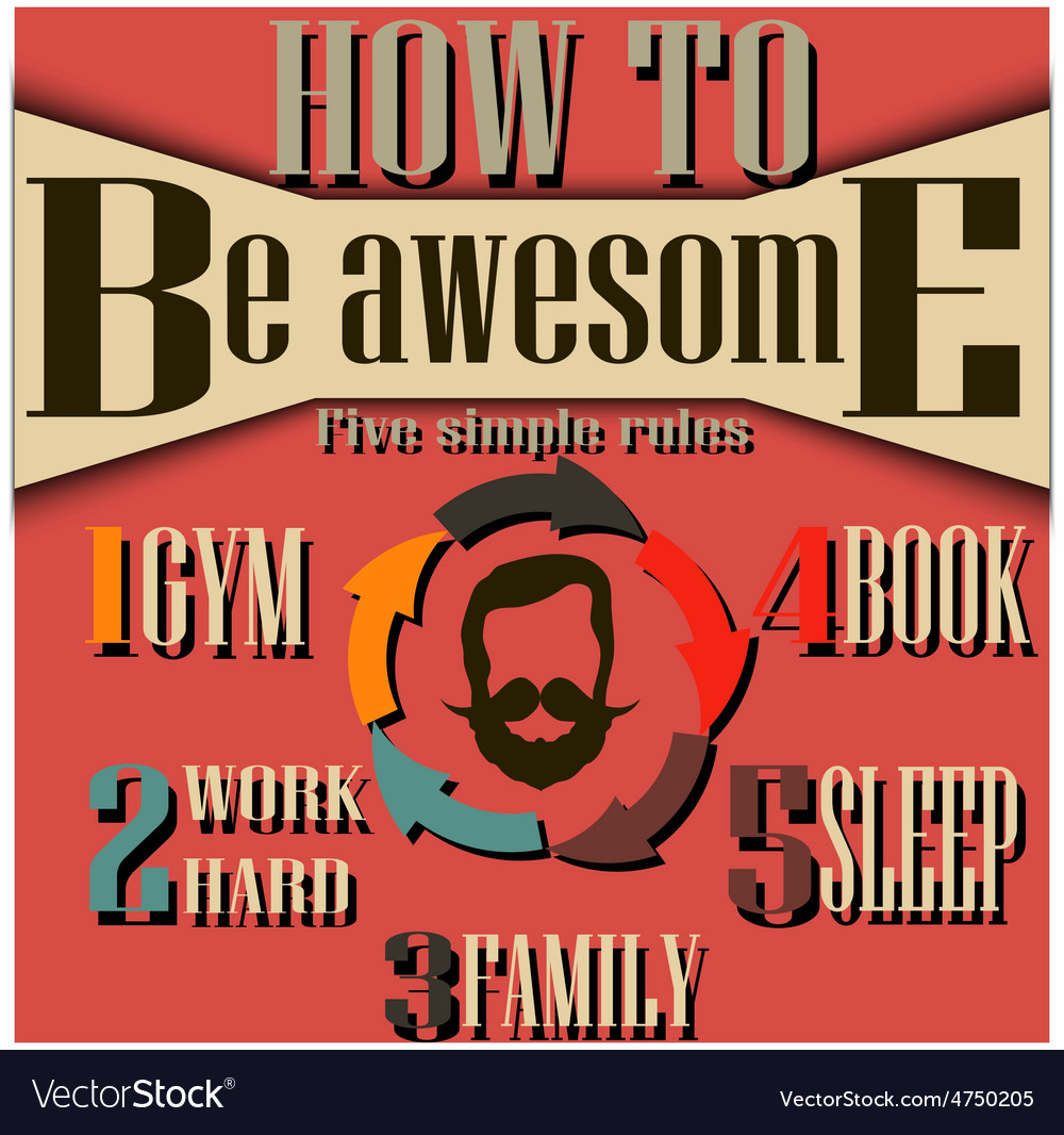 Vintage styled infographic vector image