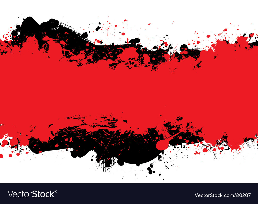 Red n black ink vector image