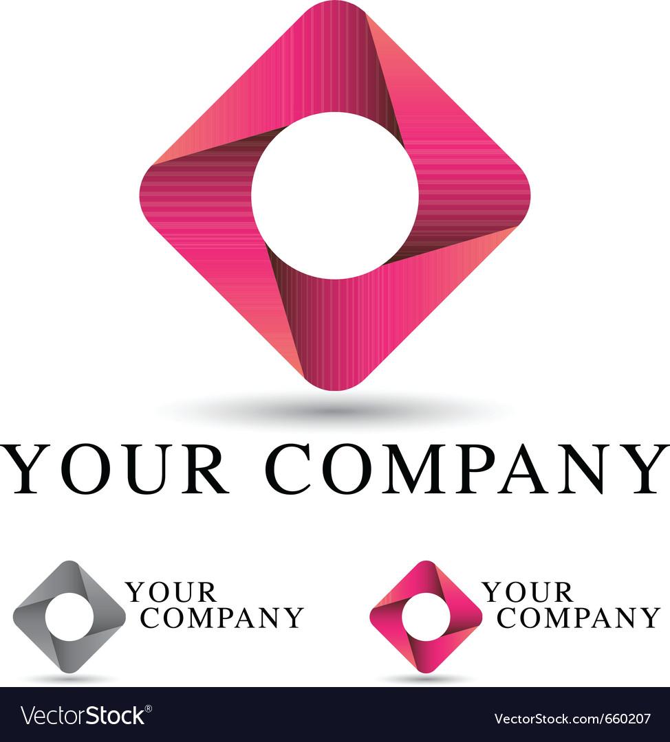 Pink ribbon logo vector image