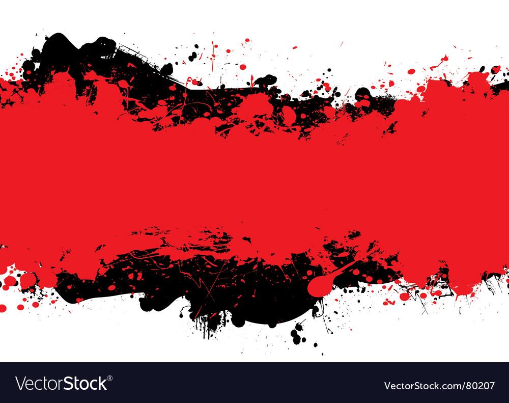 Red n black ink vector image
