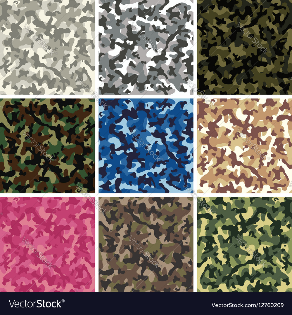 Colorful camouflage pattern vector image