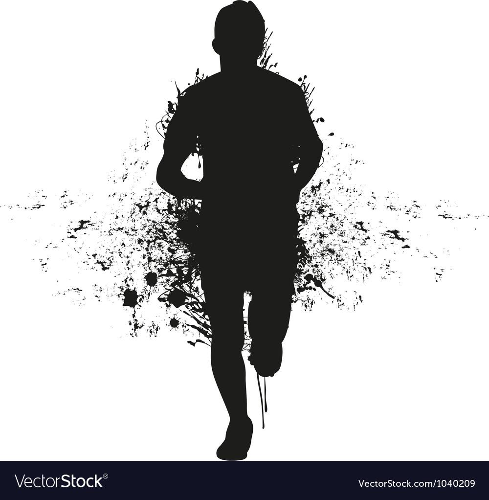 Runner backgrounds vector image