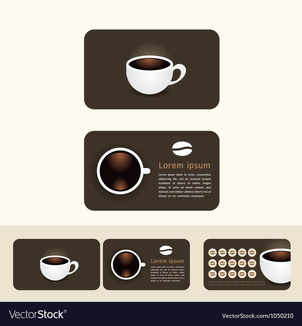 Coffee business cards discount and promotional vector image colourmoves Choice Image