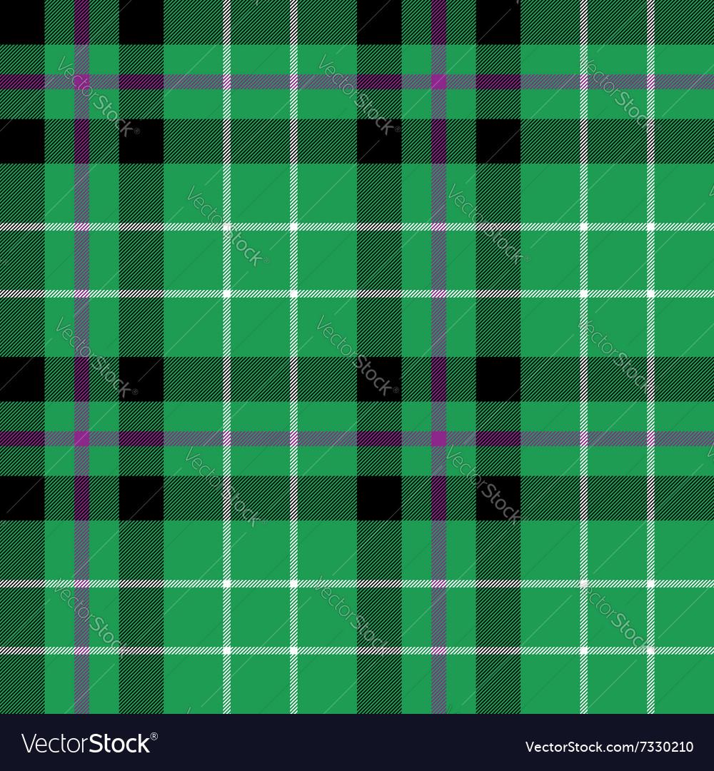Hibernian fc tartan fabric texture check pattern vector image
