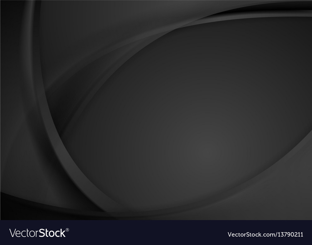 Abstract dark wavy corporate background vector image