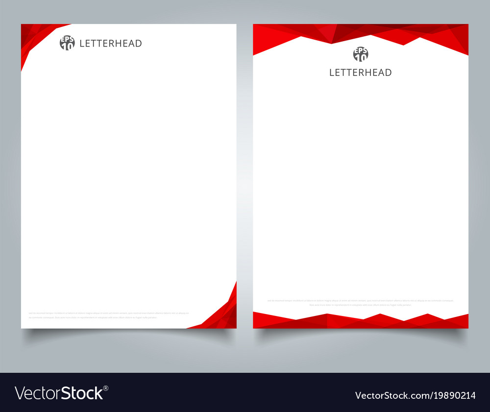 Abstract creative letterhead design template red vector image spiritdancerdesigns Gallery
