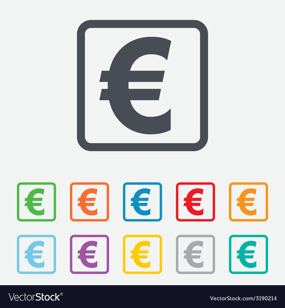 Euro sign icon eur currency symbol royalty free vector image euro sign icon eur currency symbol vector image biocorpaavc