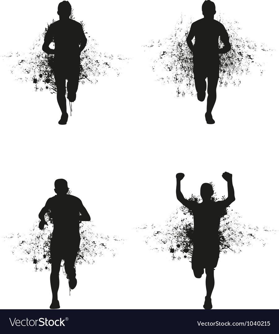 Runner backgrounds vector image
