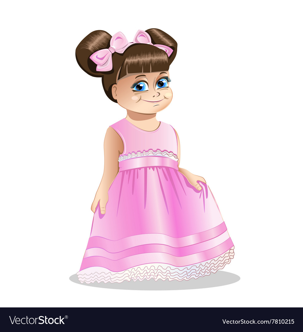 Little girl princess vector image