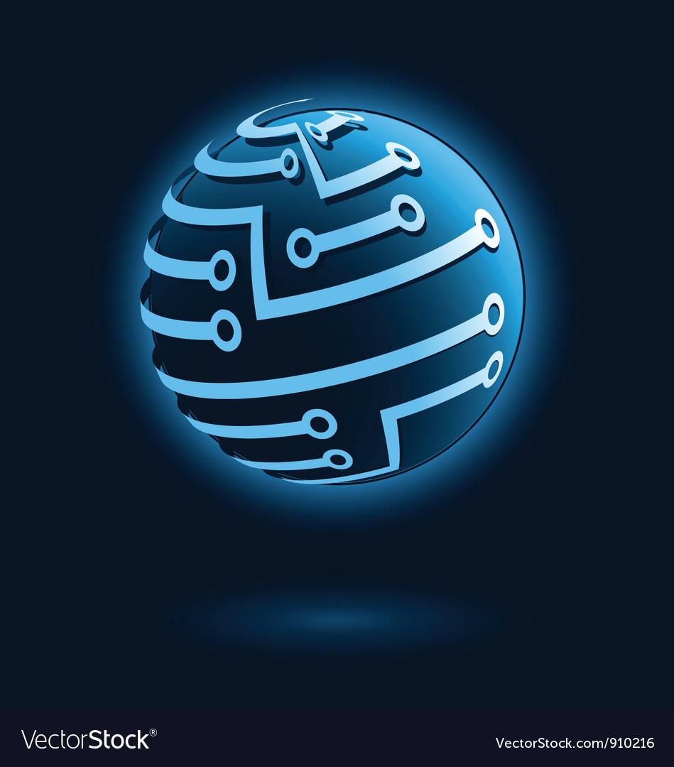 Global digital icon Vector Image