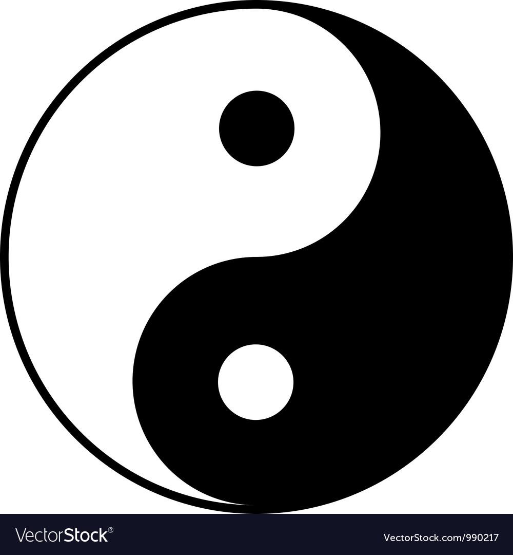 Yin-yang symbol vector image