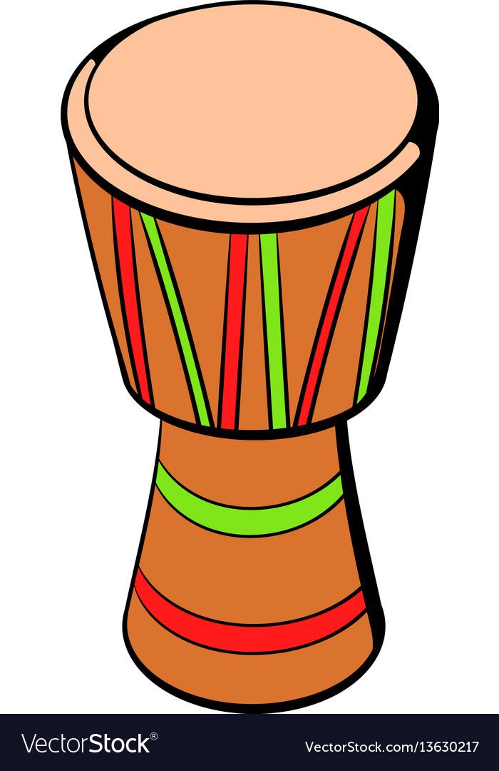 Australian ethnic drum icon cartoon vector image