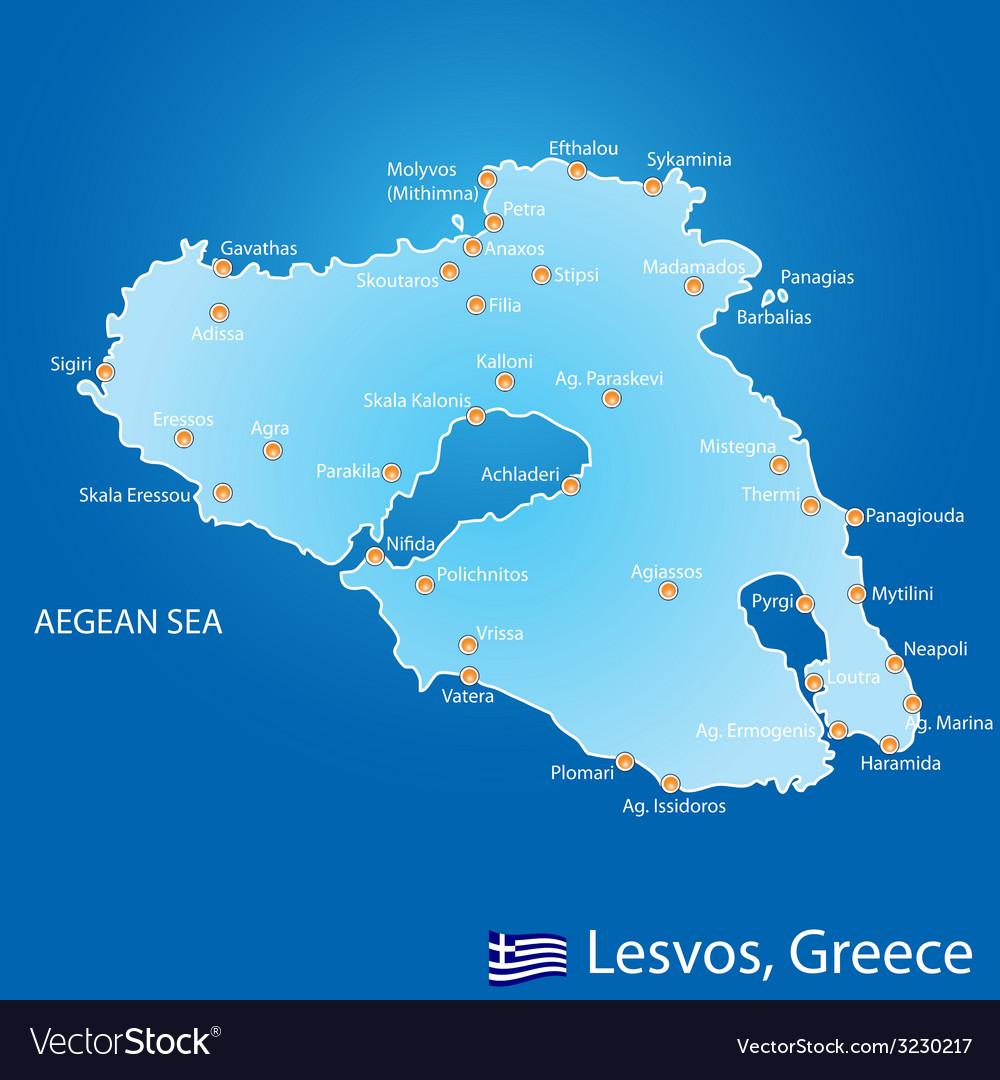 Island Of Skopelos In Greece Map Royalty Free Vector Image - Greece map