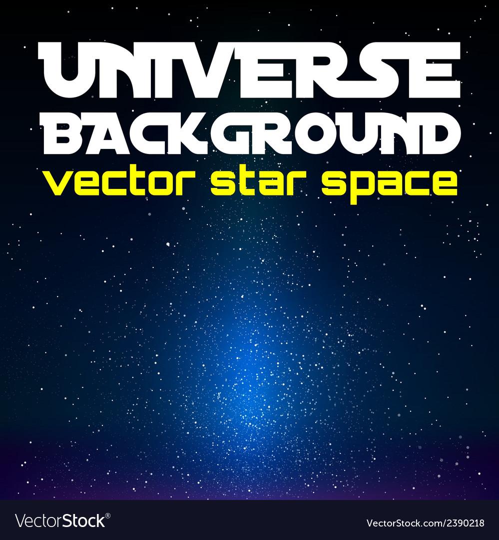 Blue Universe vector image