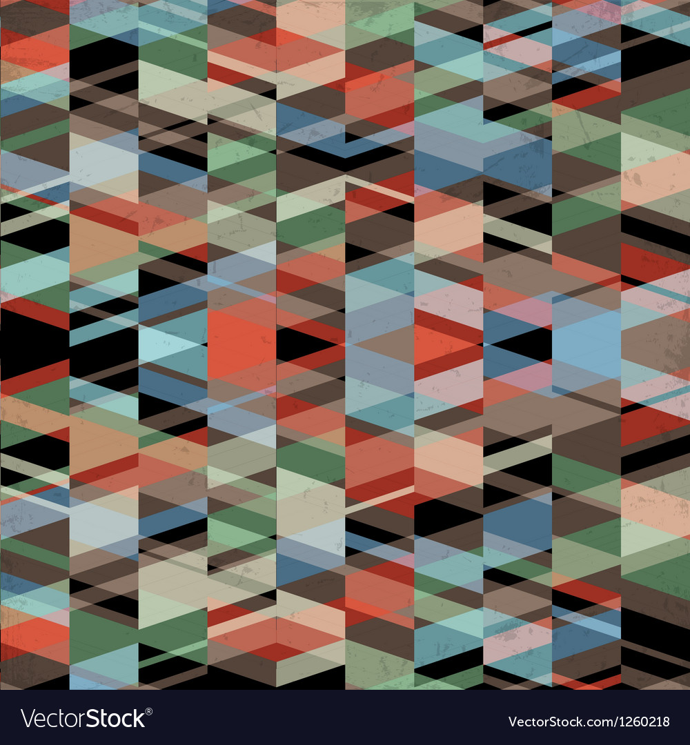 Retro grunge geometric background vector image