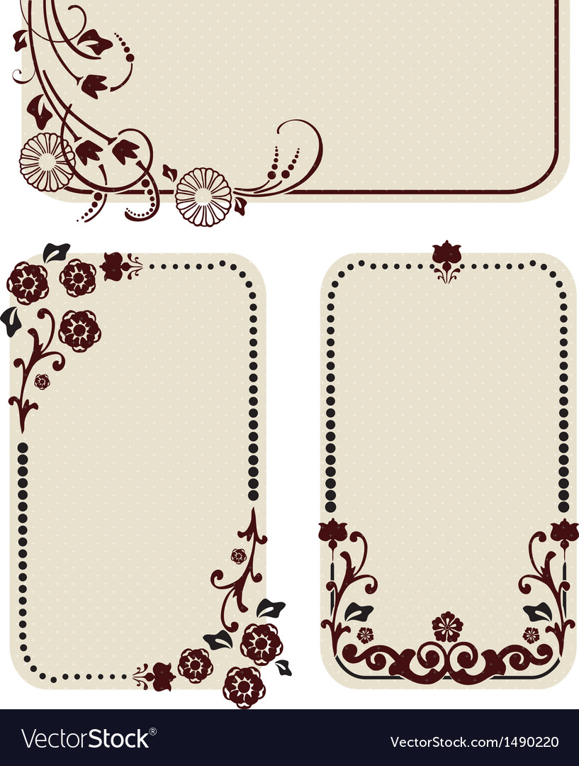 Beautiful labels vector image
