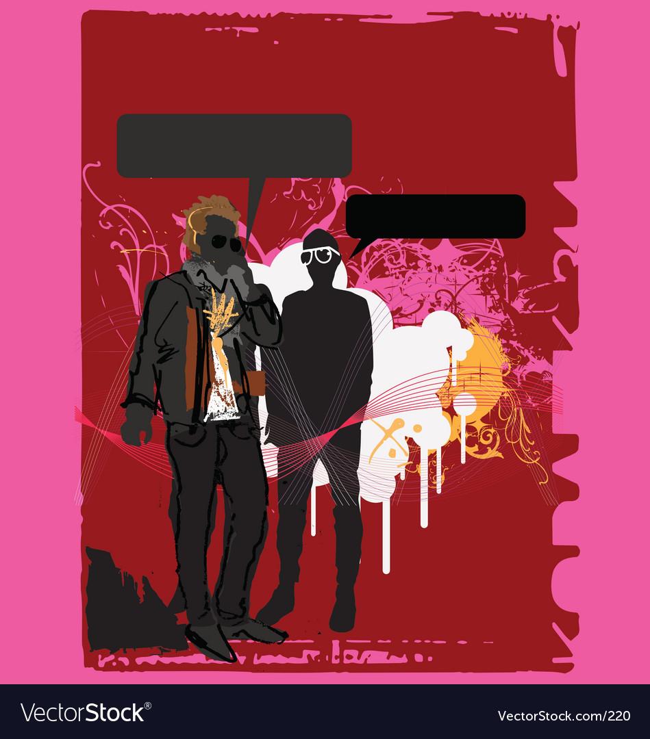Urban dude on cellphone vector image