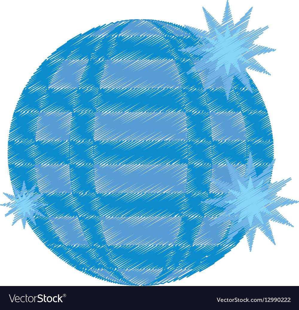 Disco ball party icon design vector image