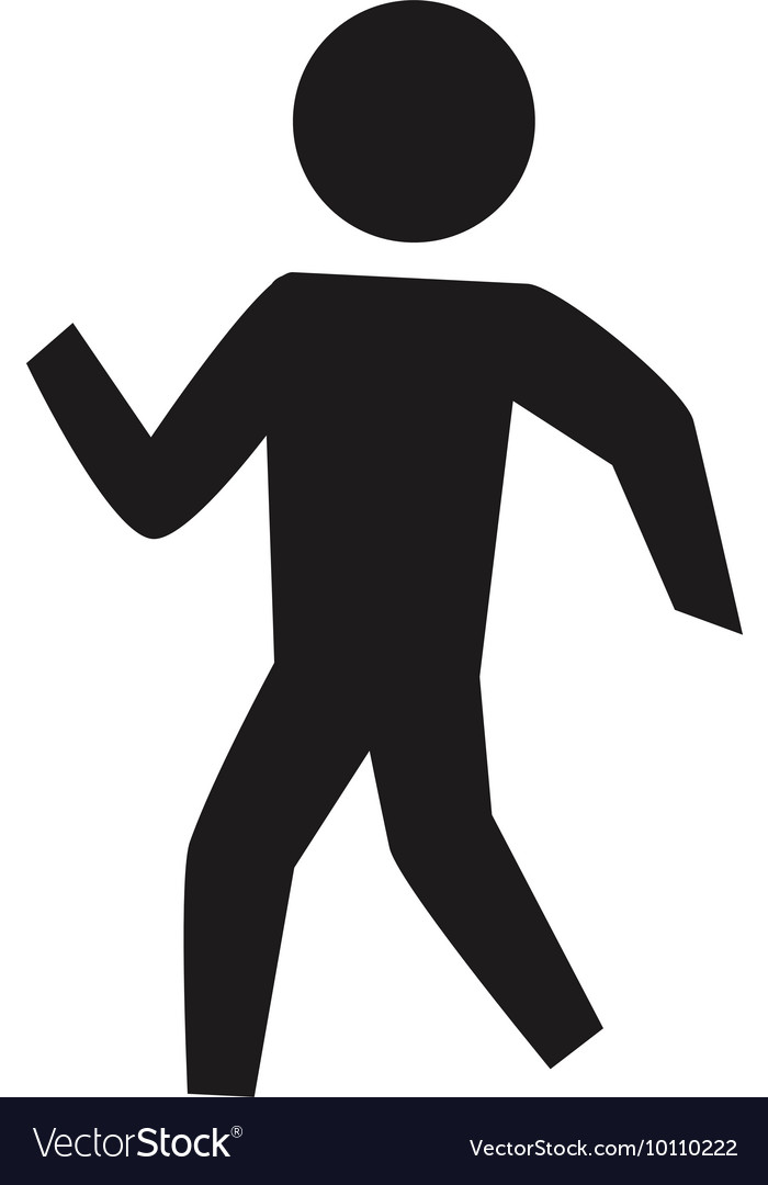 Pictogram person silhouette action icon vector image