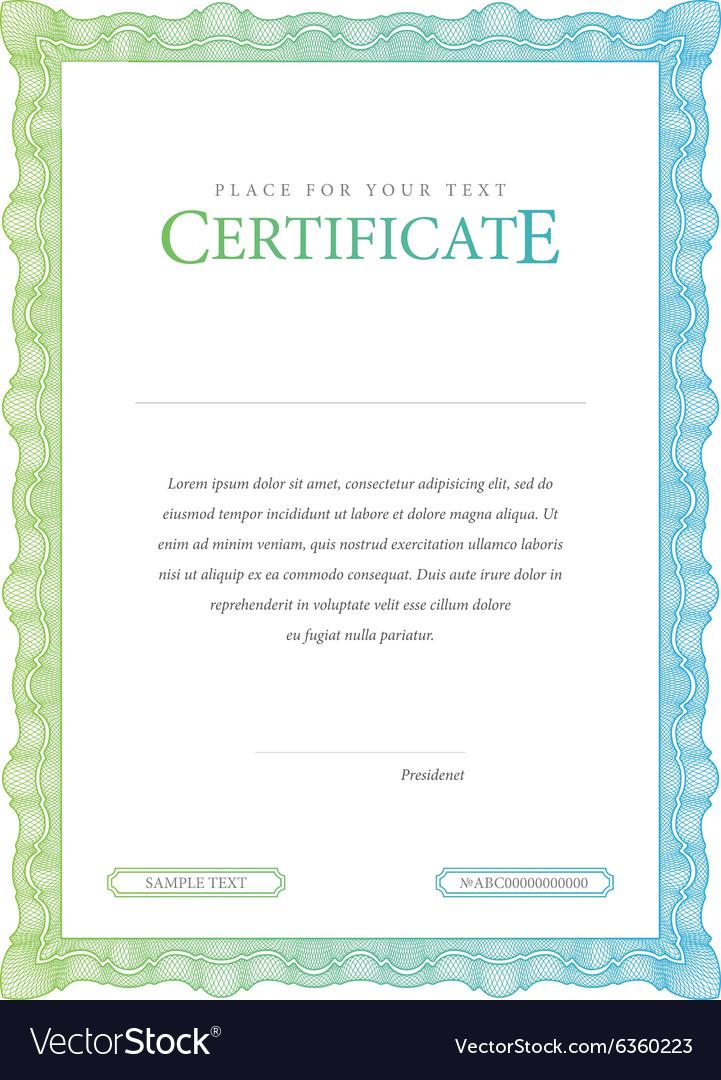 Vintage certificate template diplomas currency vector image vintage certificate template diplomas currency vector image yadclub Gallery