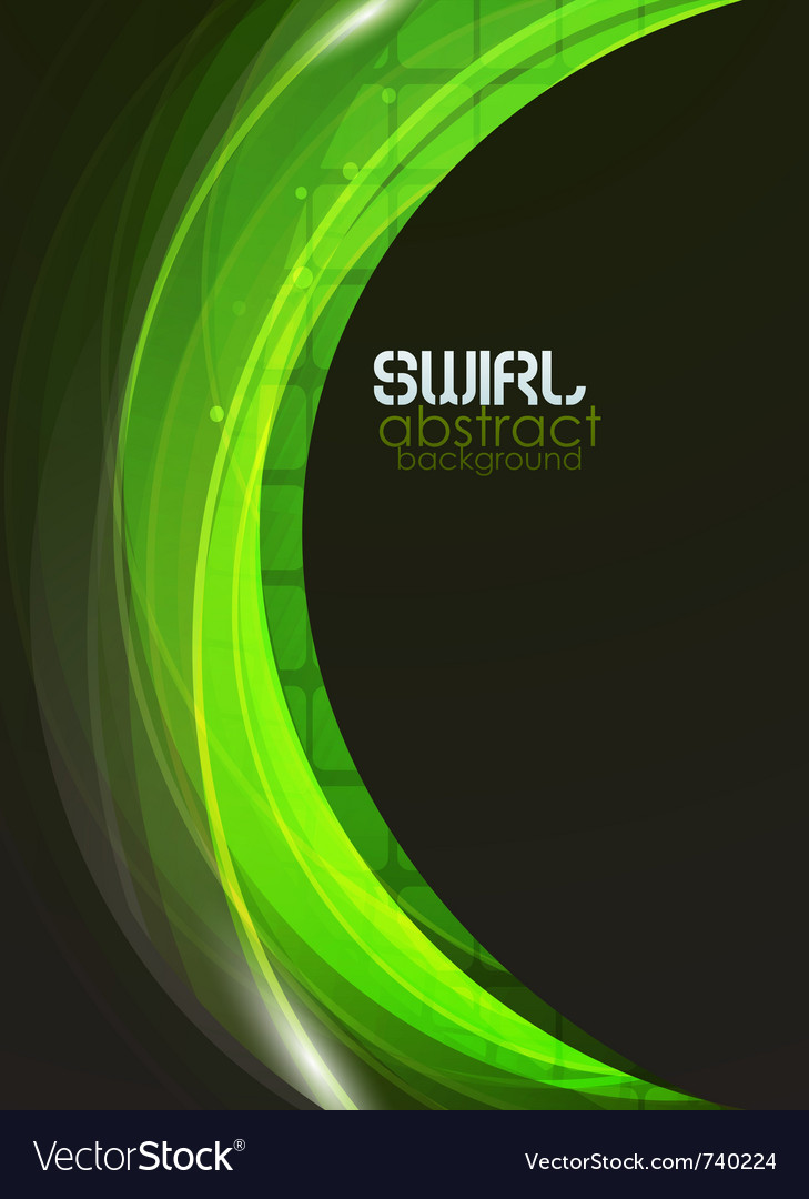 Green flow abstract background vector image