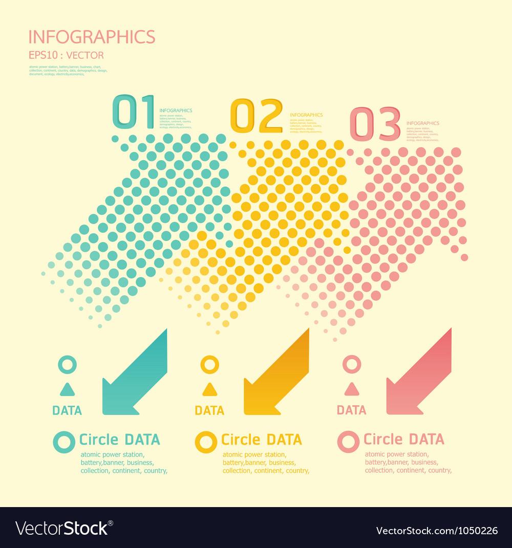 Dots arrows soft color vector image