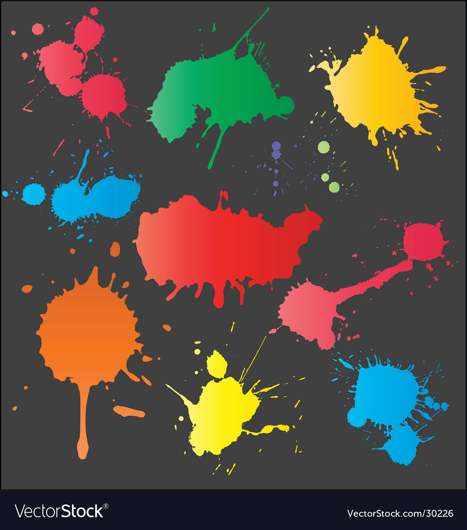 Set of splashes vector image