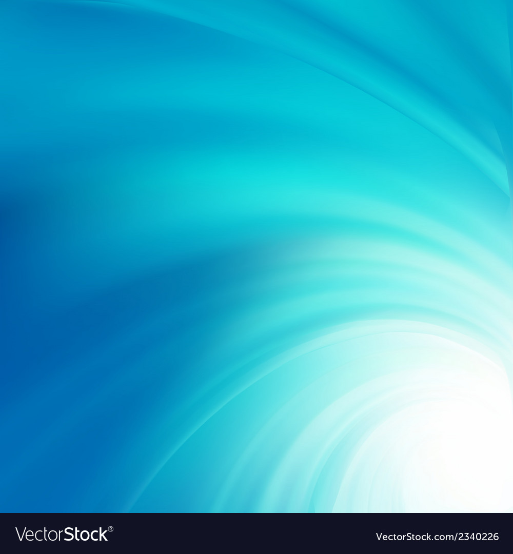 Abstract blue curves design EPS 8 vector image