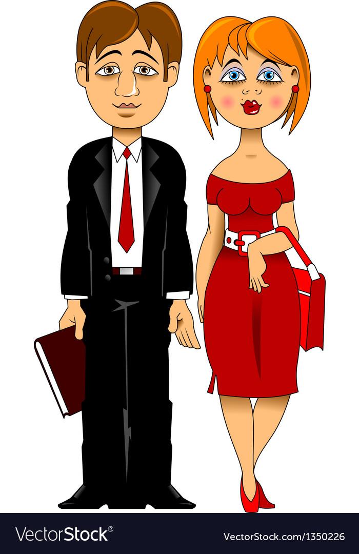Newlyweds vector image