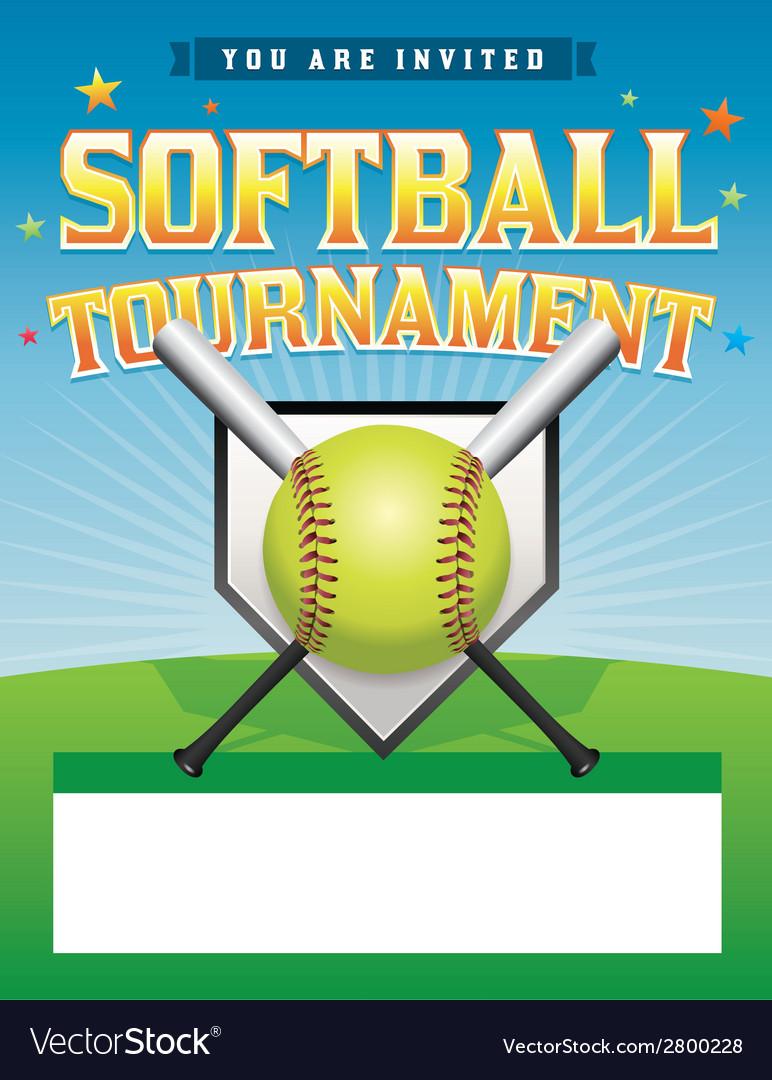 Softball Tournament Flyer vector image