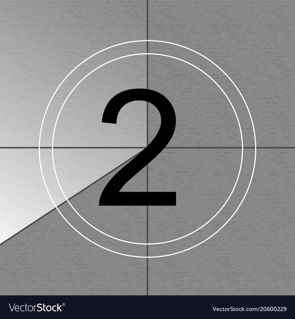 Creative of countdown frame Royalty Free Vector Image