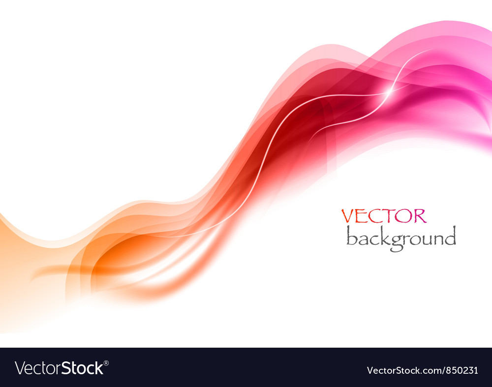 Wave neon light white curve vector image