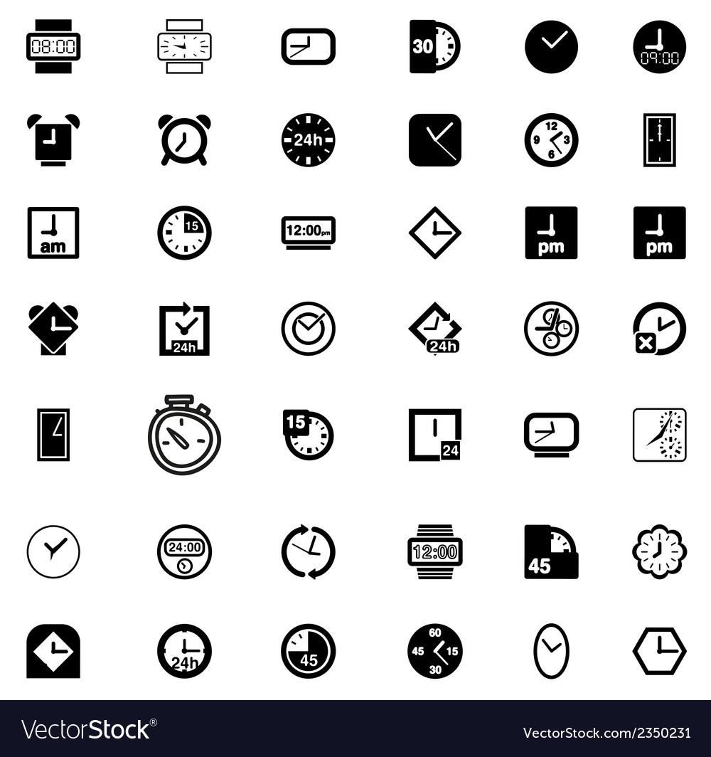 Set of Clock Icon Symbol vector image