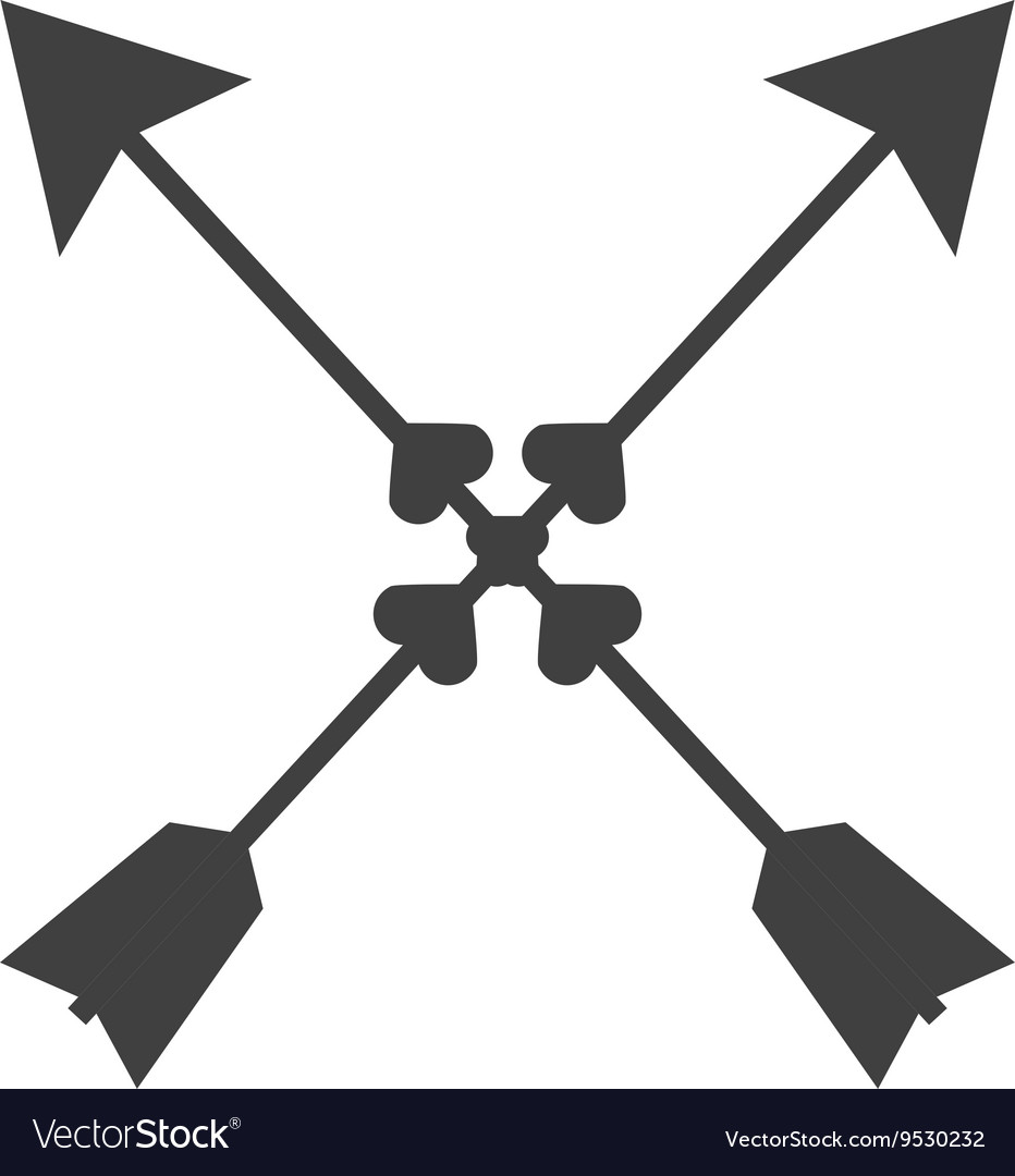 Indian arrow cross isolated icon design vector image