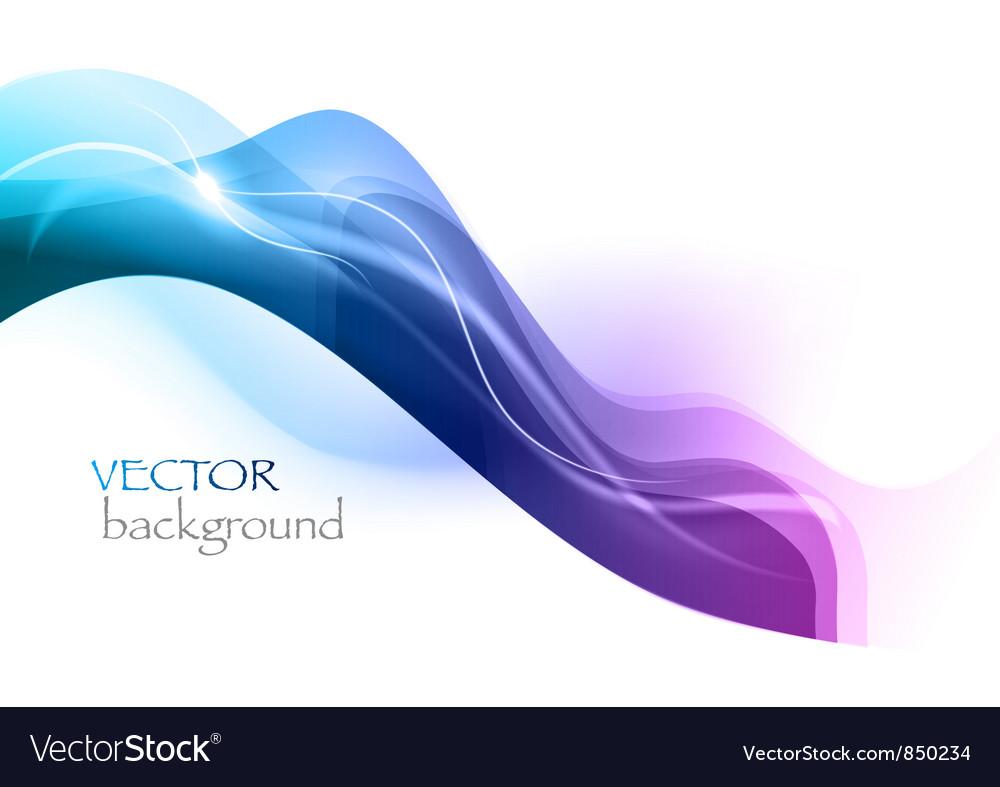 Wave neon light white curve blue vector image