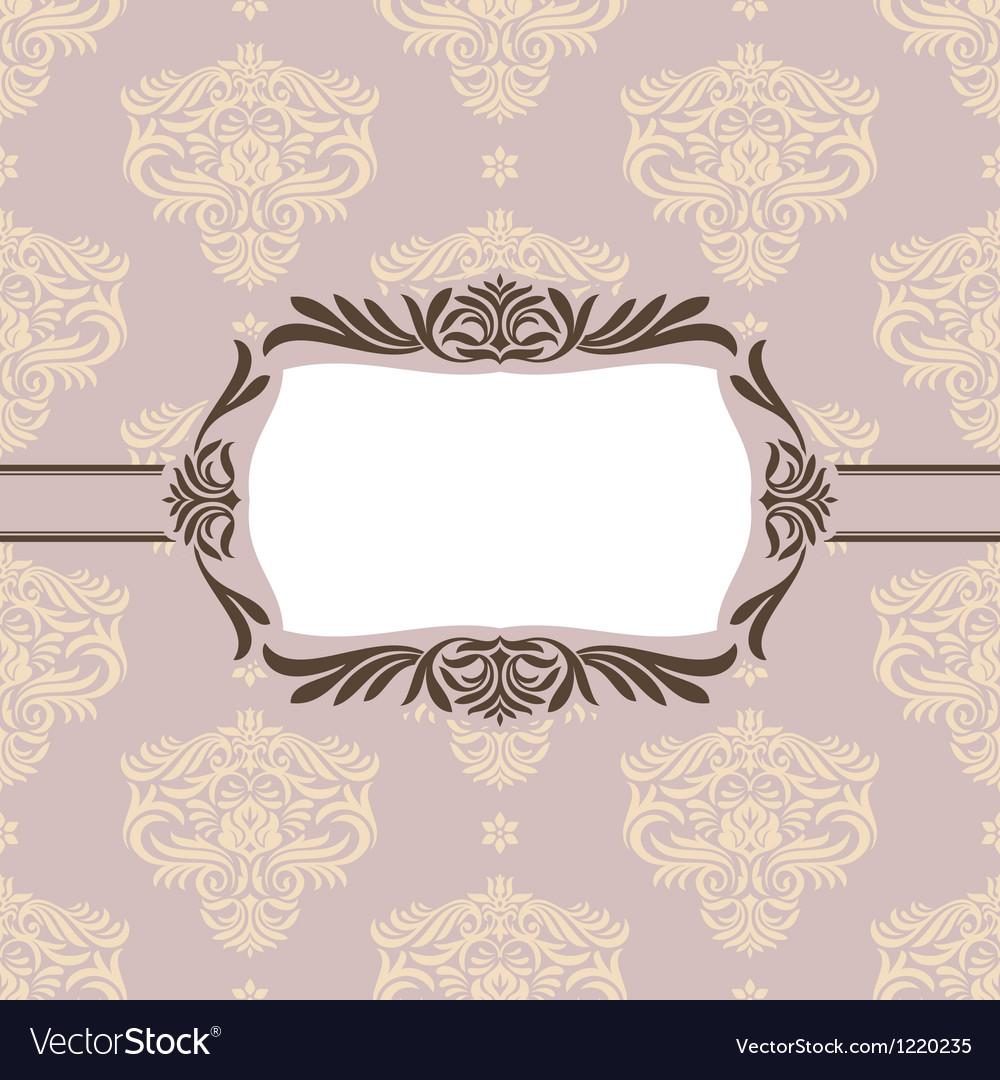 Floral retro frame Vector Image