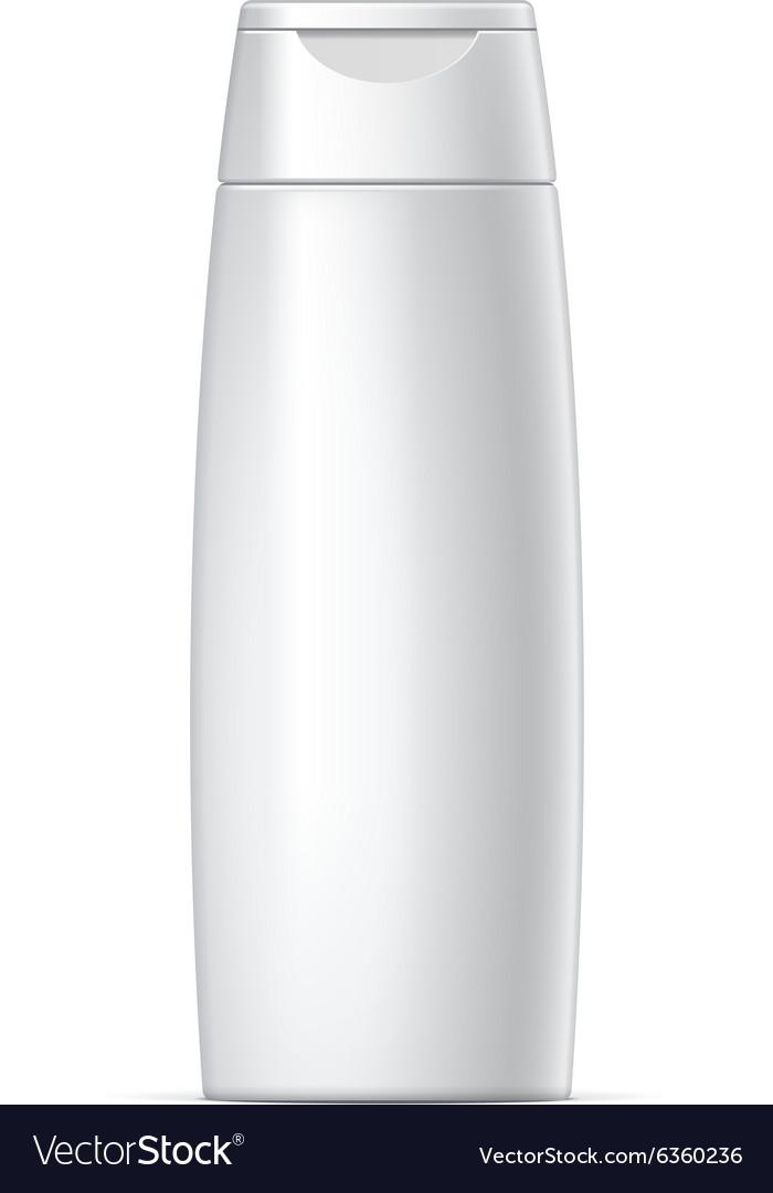 White plastic Shampoo Bottle vector image