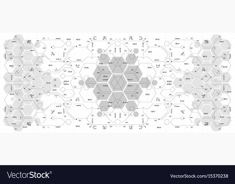 Background with futuristic user interface design vector image