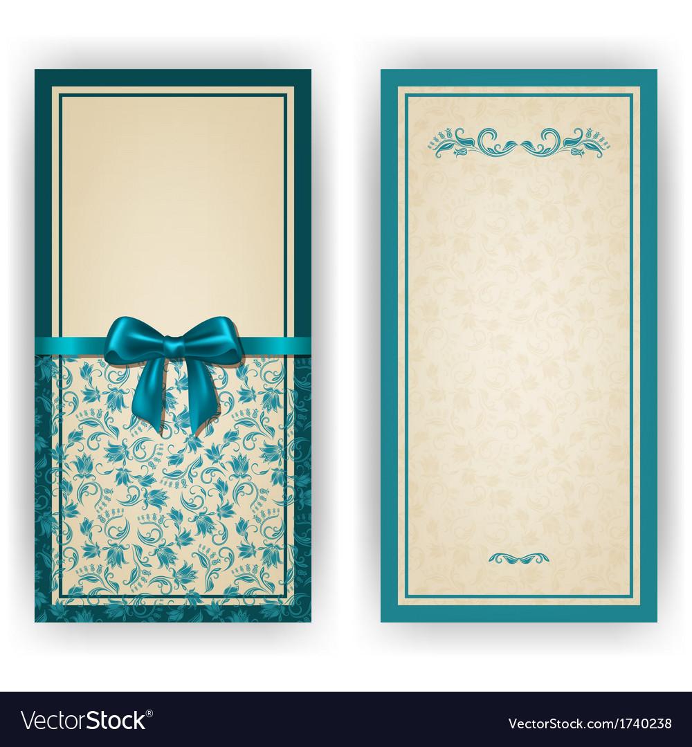 Elegant template for luxury invitation card vector image