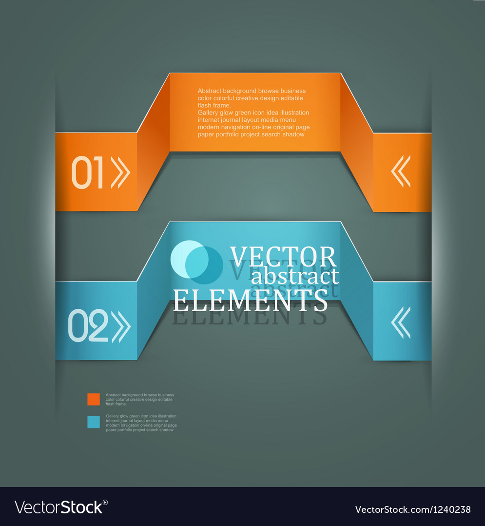 Modern banner Items for Web Business Design vector image