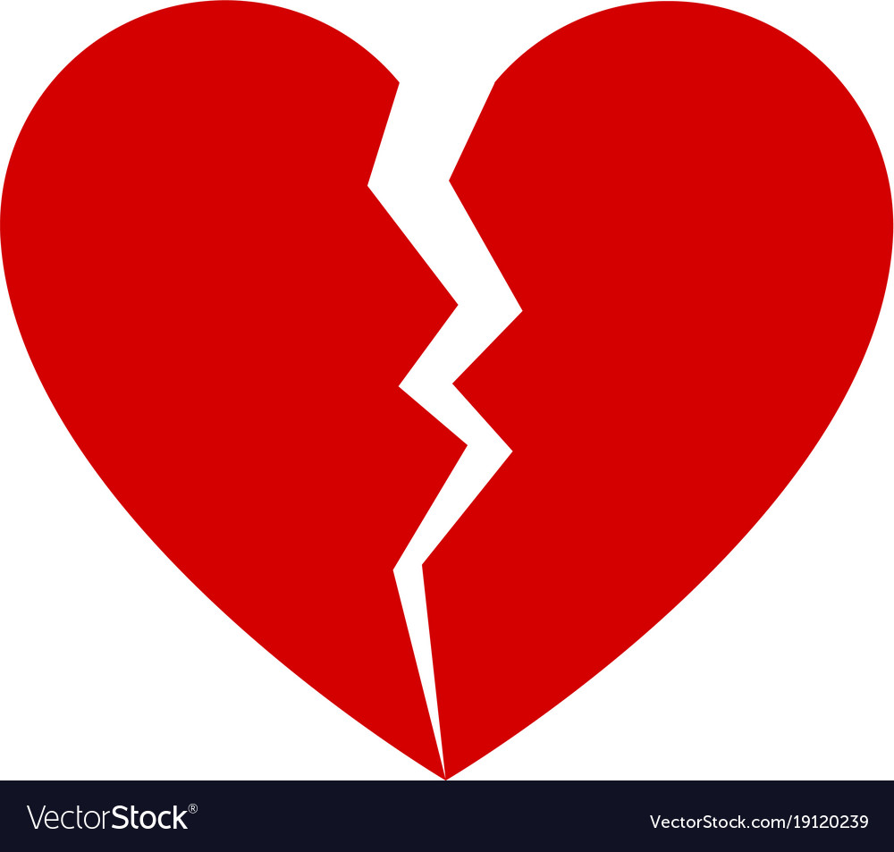 Broken heart facebook symbol gallery symbol and sign ideas red broken heart royalty free vector image vectorstock red broken heart vector image buycottarizona buycottarizona