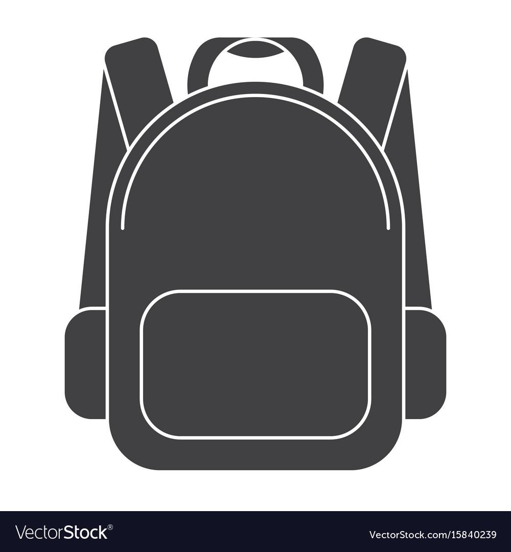 School bag icon vector image