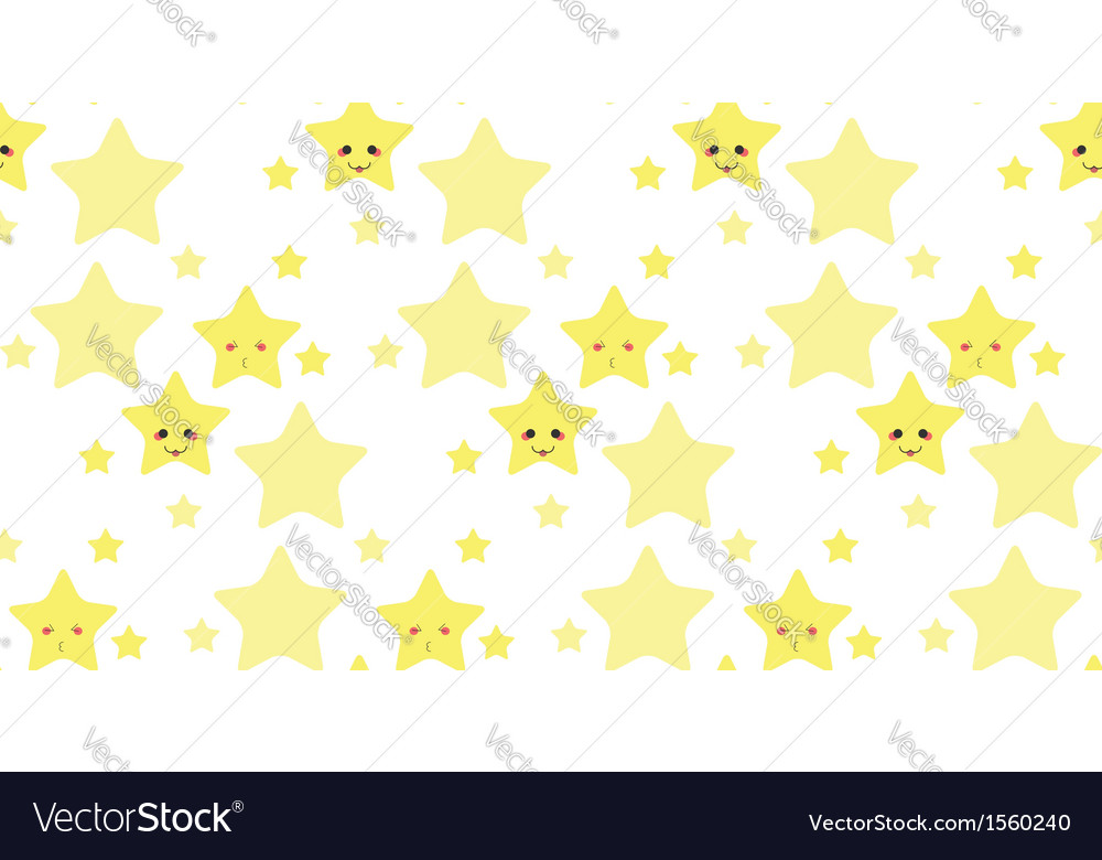Funny stars pattern vector image
