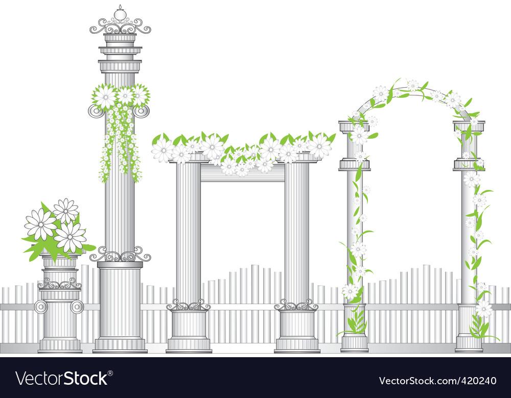 Garden arch vector image
