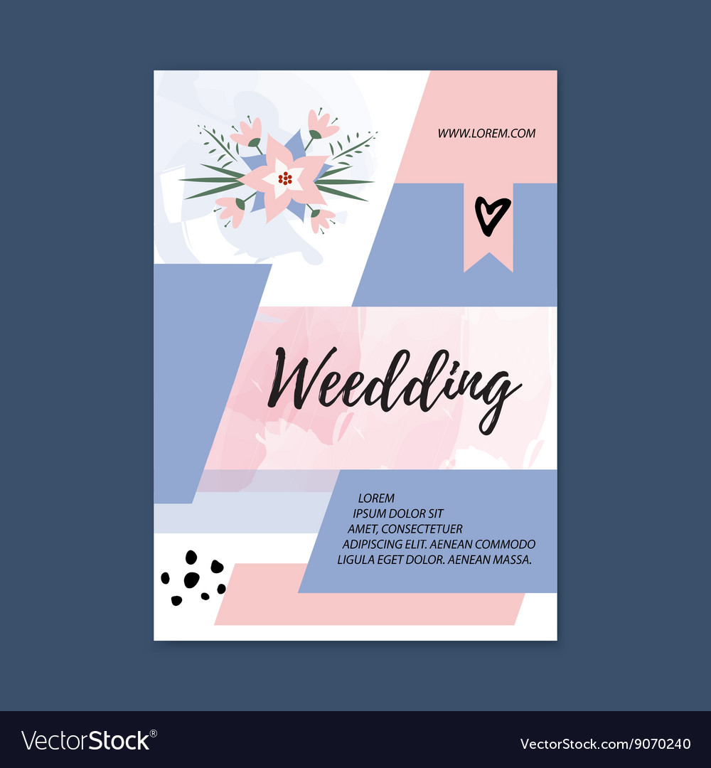 wedding brochures templates free - wedding brochure blank template front page vector image