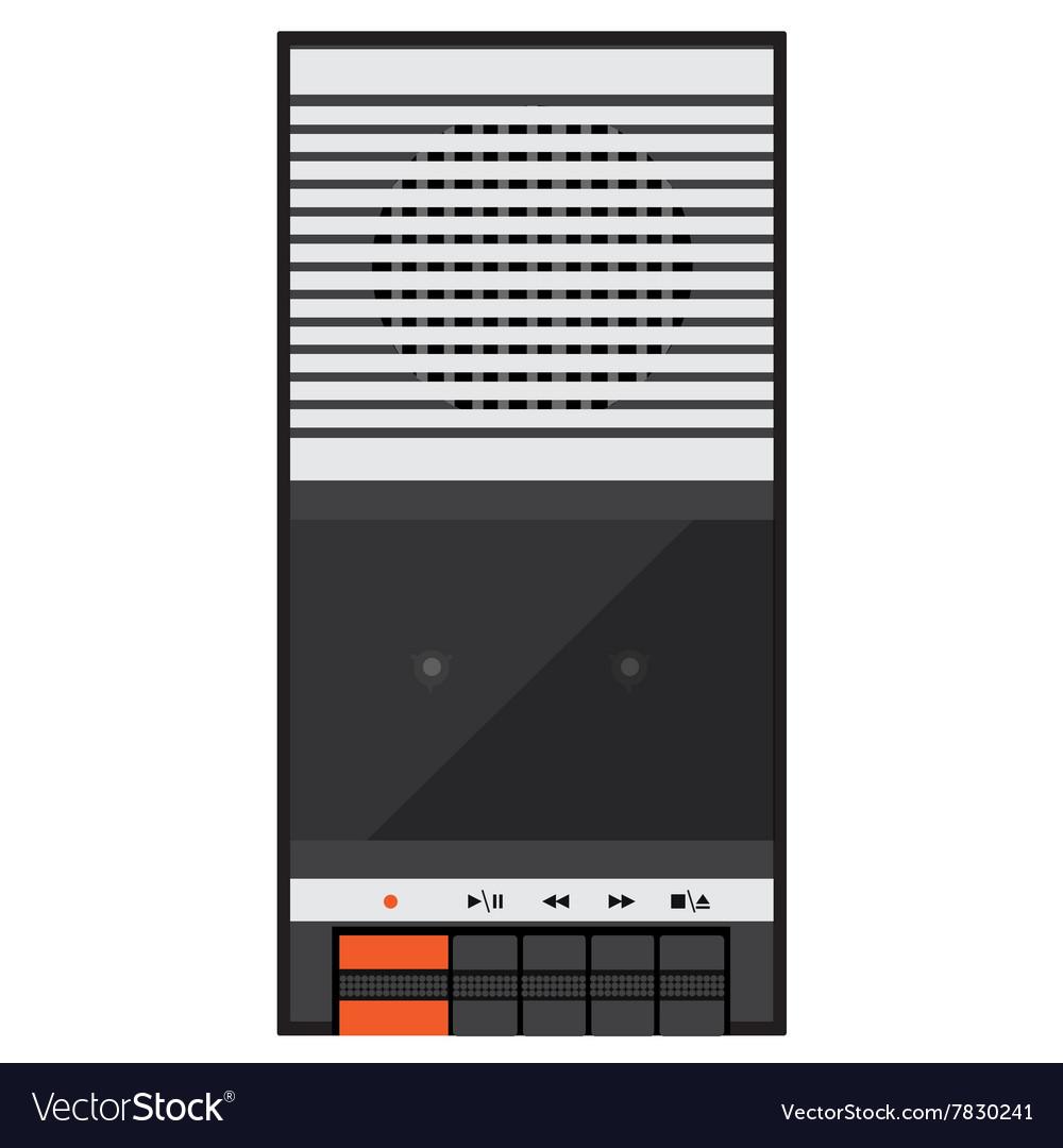 Audio tape recorder vector image