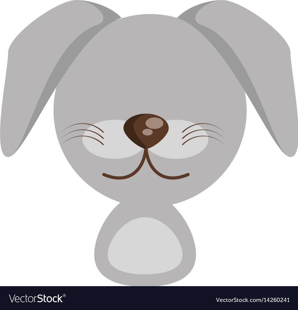 Head cute dog animal image vector image